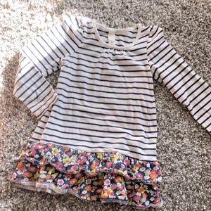 Striped & Floral Dress